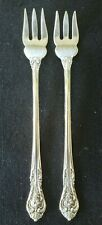 """TWO VINTAGE Sterling Silver Gorham """"King Edward"""" COCKTAIL FORKS 4.5"""" 33.1 grams"""