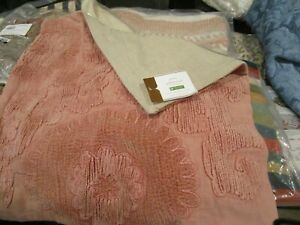 """Pottery Barn Elmira Velvet Embroidered   20"""" Pillow cover dusty blush New tag"""