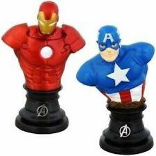 "Marvel Avengers Captain America Iron Man 3"" Paper Weight Mini Bust Figures"