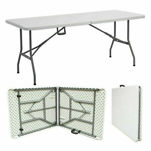 5FT Catering Camping Heavy Duty Folding Trestle Table Picnic BBQ Party