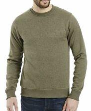 Bench Original Herren Literary Sweatshirt Pullover/Neu mit Etikett/Grün/Gr-M