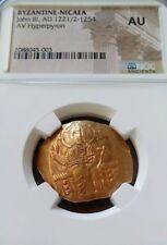 Byzantine-Nicaea John Iii Hyperpyron Ngc Au Ancient Gold Coin