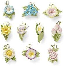 Lenox *Celebrate Flowers* 10 Tree Ornaments - New in Gift Box!