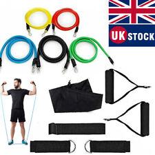 💪New Resistance Bands Workout Exercise Yoga Crossfit Fitness Tubes 11Pcs Set