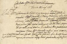 manoscritto sulla Causa delle Monache Santucce di Santa Maria Maddalena 1681