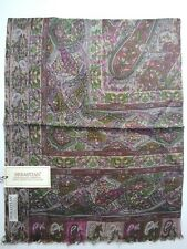 100% Silk Scarf  Wrap fine Art of Handmade Oil painting