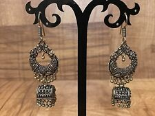 New Indian Pakistani Ethnic Bollywood Antique Oxidise Golden Jhumki Earring Bali