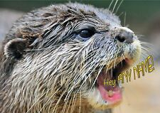 PERSONALISED OTTER BIRTHDAY FATHERS MOTHERS DAY etc CARD + Illus insert