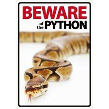 NOVELTY: BEWARE OF THE PYTHON  INTERNAL/EXTERNAL SIGN
