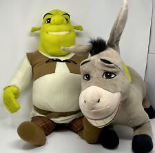 Shrek & Donkey Jumbo Plush 05807 & 05808 Dreamwork's Hasbro Stuffed Animals