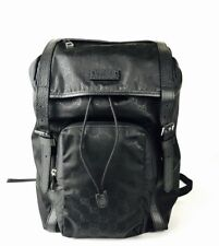 206be8ad344 Gucci Men s Black GG Nylon Drawstring Backpack w Black Leather Trim 510336  1000