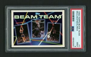 1992 TOPPS BEAM TEAM SHAQUILLE O'NEAL ROOKIE & MULLIN/RICE PSA 9 MINT NEW SLAB!!