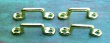 "Lot of 4 Footman Loop Solid Brass 3/4"" Strap - 2"" long Civil WarMcClellan Saddle"