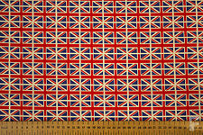 ALL OVER UNION JACK FLAG FABRIC - 100% COTTON - 114 cms WIDE