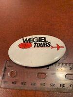 Vintage Wegiel Tours Travel Company Employee Pin Button FREE SHIPPING