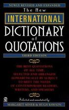 New International Dictionary Of Quotations 3rd Edition Paperback