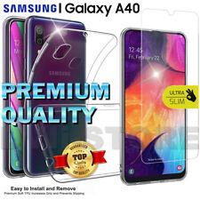 CUSTODIA per SAMSUNG Galaxy A40 Cover TPU + Pellicola VETRO Temperato Protezione