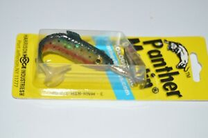 """panther martin 4"""" holographic rainbow trout 3/8oz  minnow spin paddletail"""