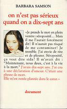 """Livre - Récit Document """" On n'est poas sérieux quand on n'a dix-sept-ans (7668 )"""