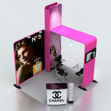 10ft custom trade show display pop up booth Kits expro stand with TV bracket
