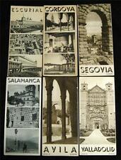 LOT OF 6 REGIONS OF SPAIN SOUVENIR TOURISM BROCHURE GUIDES 1920s 1930s VINTAGE
