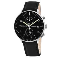 Stuhrling 803 01 Monaco Analog Quartz Chronograph Date Leather Mens Watch