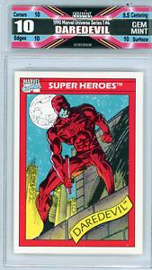 Daredevil 1990 Marvel Universe Series 1 #4 Freshly Graded 10 Gem Mint