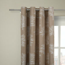 "JOHN LEWIS Oakley Trees Eyelet Top Lined Curtains -WHITE- 66""Wx54""D/164cmx136cm"
