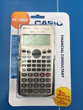 Calculatrice Financière - Casio FC 100V - Affichage 4 Ligne - NEUF