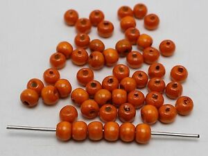 500 Round Wood Beads 8mm Wooden Spacer Beads Jewelry Making Color Choice