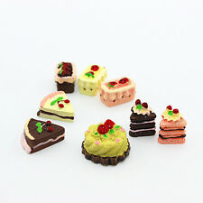 8Pcs Dollhouse Miniature Lovely Cakes Sweets Assorted Cute Baby Kids Gifts Hot