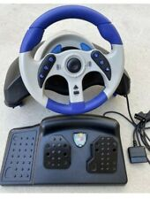 MADCATZ MC2 MICROCON RACING WHEEL & PEDALS CONTROL PS2 PLAYSTATION 2  ITEM #8230