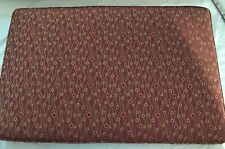 """Bench cushion, prof. upholstered, approx. 38"""" x 24"""" x 2"""", dark red, orange, gold"""