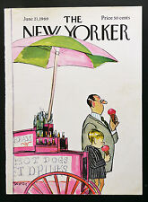New Yorker COVER June 21 1969 Charles Saxon, ice cream ADD'L COVERS SHIP FREE
