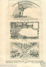 Nice Envelope Enveloppe Collection England Angleterre Bis GRAVURE OLD PRINT 1863