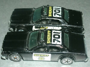 Two 1/64 Scale 1977 Dodge Monaco Diecast Sheriff 701 Police Cars - Hot Wheels 59