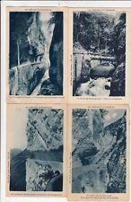 Lot 4 cartes postales anciennes DRÔME route des grands goulets 9