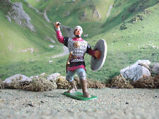Supreme Medieval Russian knight defending with mace 60mm painted