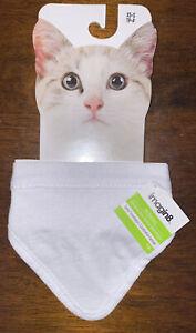 CAT BANDANAS  SIZE XS-S White NWT