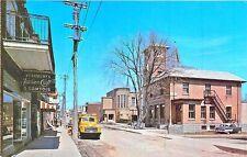 St-Gabriel De Brandon Quebec Canada  Street View Old Car Truck Postcard