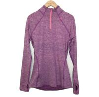 Sweaty Betty Long Sleeve Running Womens Top 3/4 Zip Small Purple / Pink