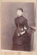 KILKEE AND CLONMEL GENTRY GIRL IRISH  ANTIQUE CABINET CARD ORIGINAL PHOTOGRAPH