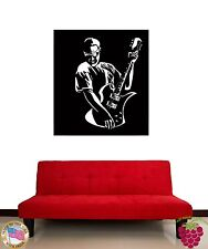 Wall Stickers Vinyl Decal Rock Star Guitar Black And White Decor  z1193
