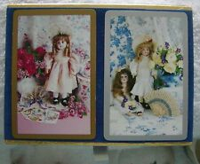 ANTIQUE DOLLS Playing Cards ~ 2 DECKS in SET ~ IN CASE ~ by CONGRESS ~ Awesome