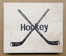 Wood Mounted Rubber Stamps, Sports Stamps, Hockey Stick, Hockey Sticks, Sport