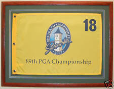 "Framed Golf Flag 16"" x 20""  Golf Pin Flag Custom Framed"