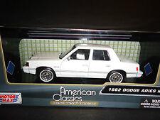Motormax Dodge Aries K 1982 White 1/24