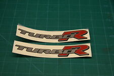Daihatsu yrv turbo R Rear  side Replacement decals stickers Civic Integra CRX