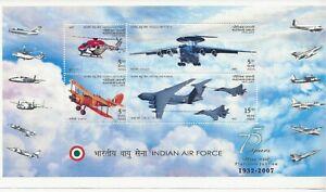 India 2007 Indian Airforce miniature sheet sg. MS2432 MNH