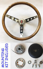 "1969-1993 Oldsmobile Cutlass 442 GRANT Walnut Wood Steering Wheel 15"" Chrome"